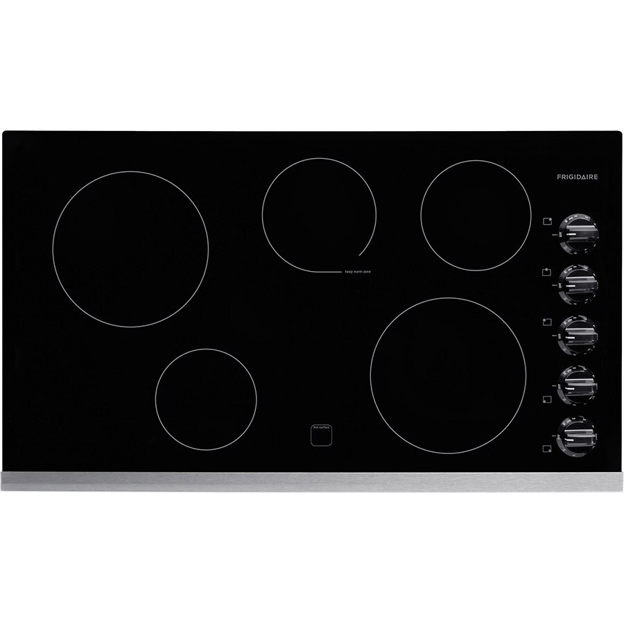 Frigidaire 5-Element Smooth Surface Electric Cooktop (Stainless Steel) (Common: 36-in; Actual 36.75-in)