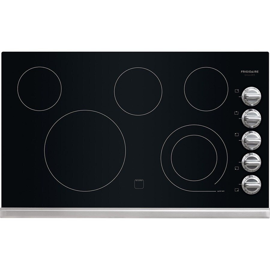 Frigidaire Gallery 5-Element Smooth Surface Electric Cooktop (Stainless Steel) (Common: 36-in; Actual 36.75-in)