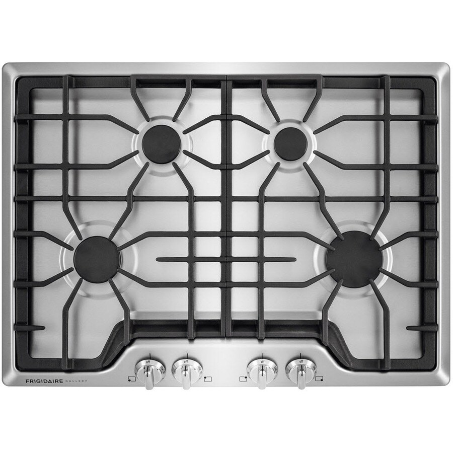 Frigidaire Gallery 4-Burner Gas Cooktop (Stainless Steel) (Common: 30-in; Actual: 30-in)