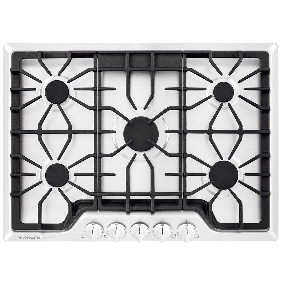 Frigidaire Gallery 5-Burner Gas Cooktop (White) (Common: 30-in; Actual: 30-in)