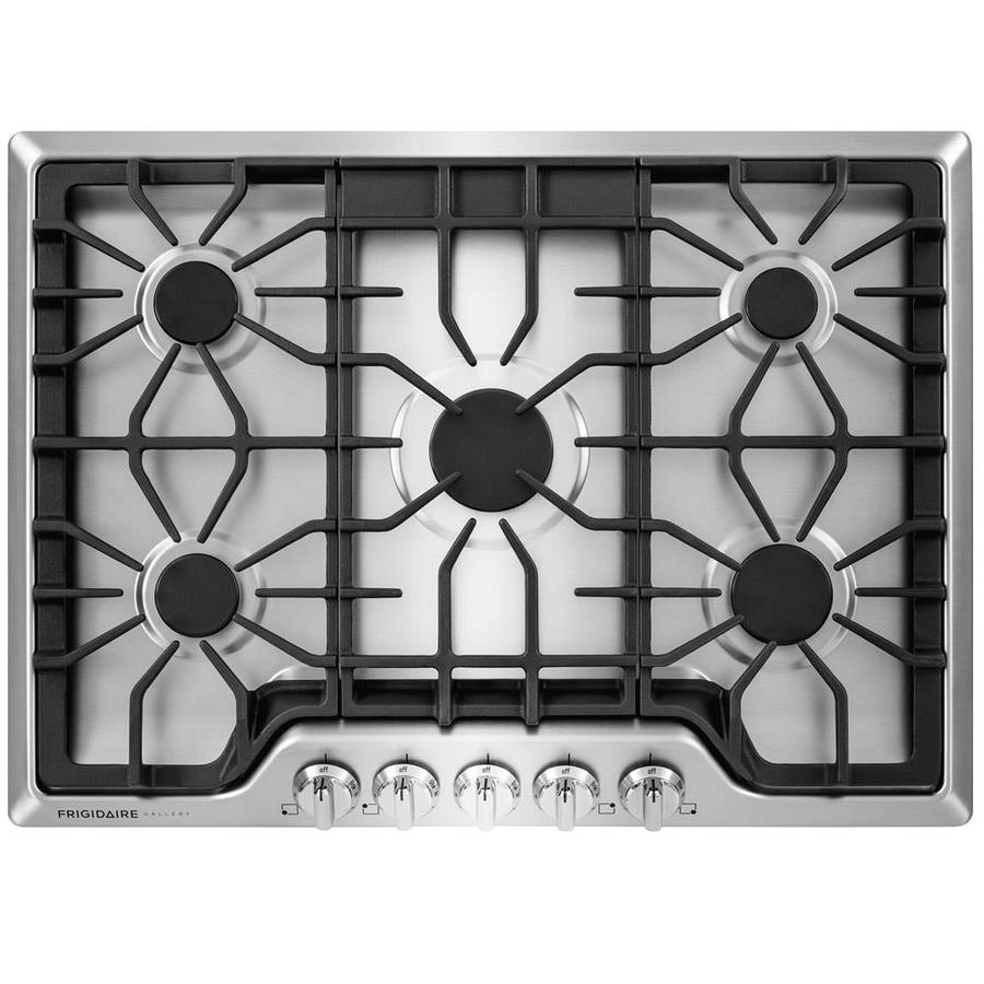 5 Burner Gas Cooktops: Shop Frigidaire 5-Burner Gas Cooktop (Stainless Steel