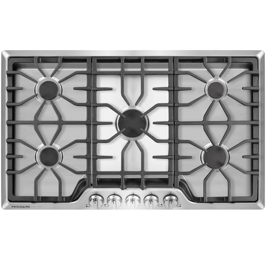 Frigidaire Gallery 5-Burner Gas Cooktop (Stainless Steel) (Common: 36-in; Actual: 36-in)