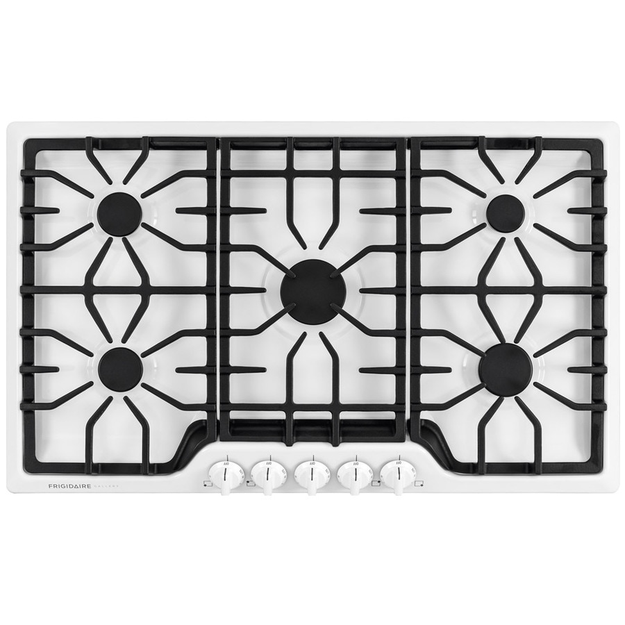 Frigidaire Gallery 5-Burner Gas Cooktop (White) (Common: 36-in; Actual: 36-in)