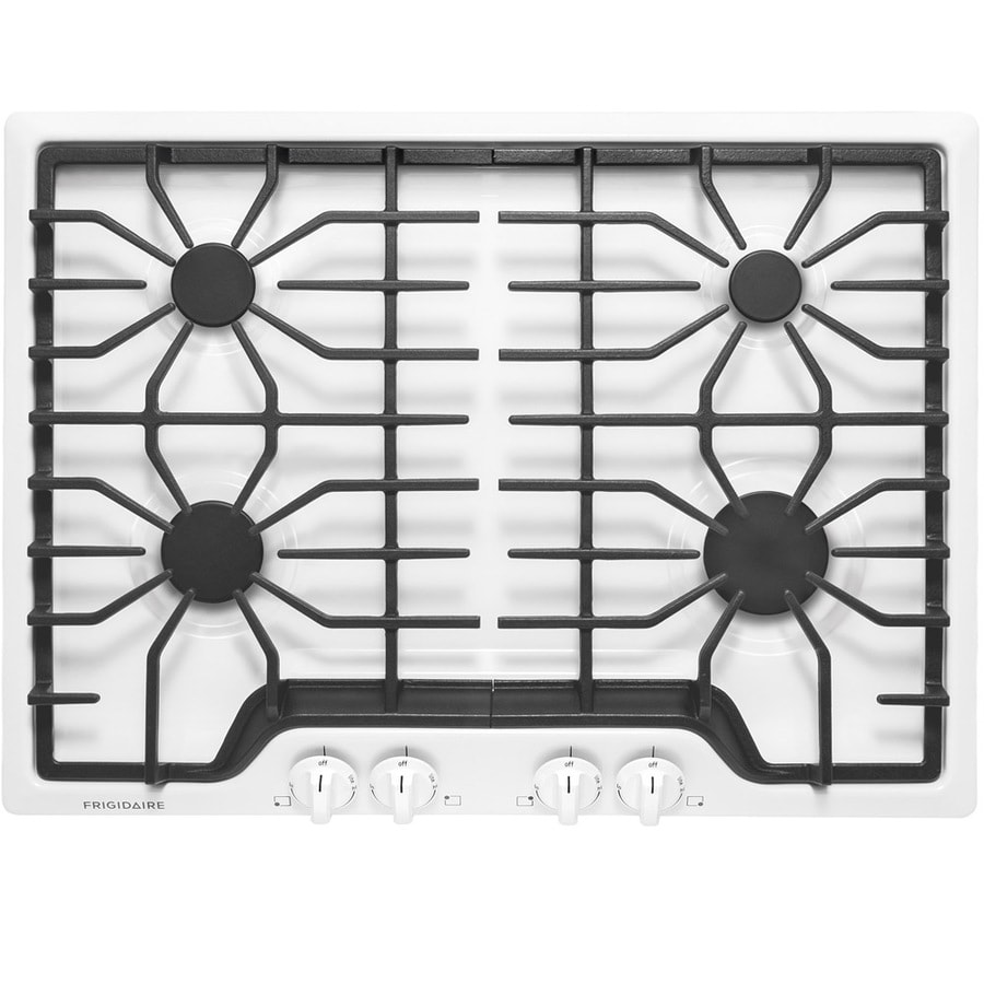 Frigidaire 4-Burner Gas Cooktop (White) (Common: 30-in; Actual: 30-in)
