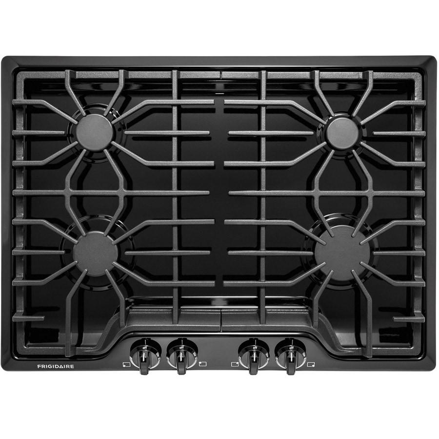 Frigidaire 4-Burner Gas Cooktop (Black) (Common: 30-in; Actual: 30-in)