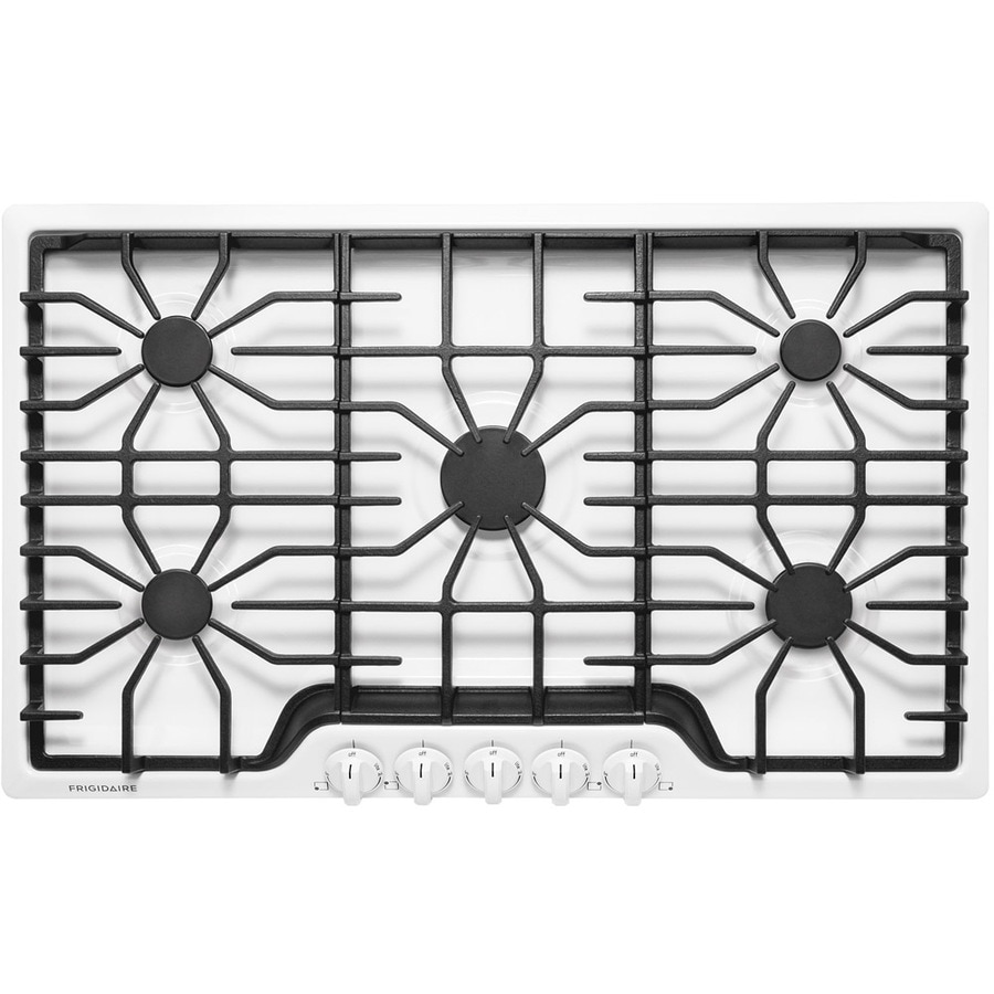 frigidaire 5burner gas cooktop white common 36in