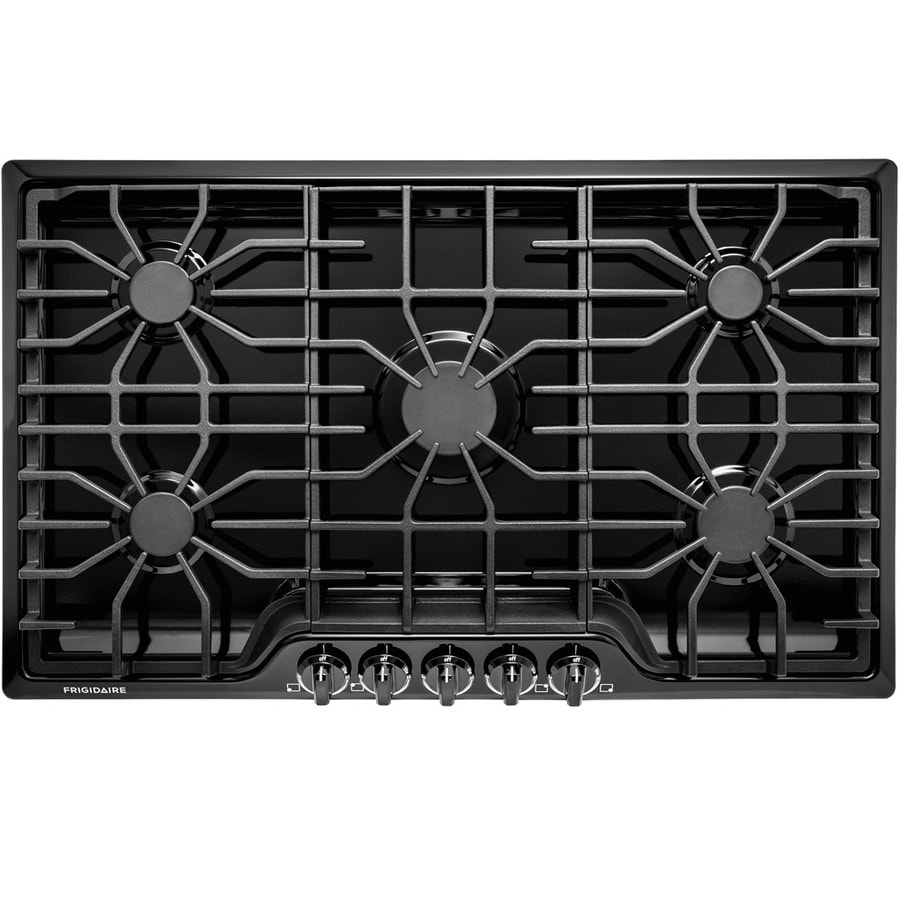 Frigidaire 5-Burner Gas Cooktop (Black) (Common: 36-in; Actual: 36-in)