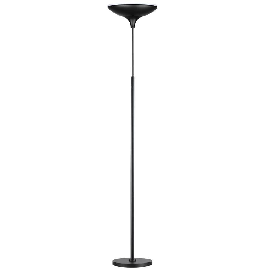 Shop globe electric 709 in black touch torchiere floor lamp with globe electric 709 in black touch torchiere floor lamp with metal shade aloadofball Images