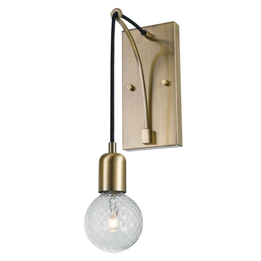 Vintage Wall Sconces Electric: Globe Electric Krystallos 4.33-in W 1-Light Antique Brass