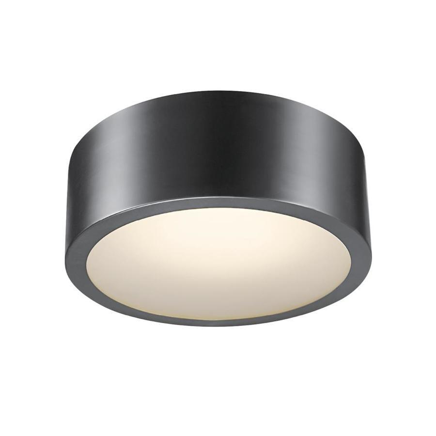 globe electric edinburg black modern contemporary led flush mount light at. Black Bedroom Furniture Sets. Home Design Ideas