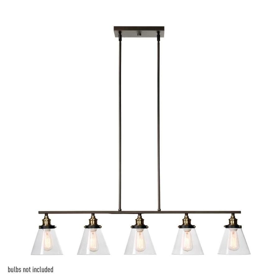 Dennis Retro Kitchen Linear Island Pendant Lighting Clear: Globe Electric Jackson Oil Rubbed Bronze Linear Vintage