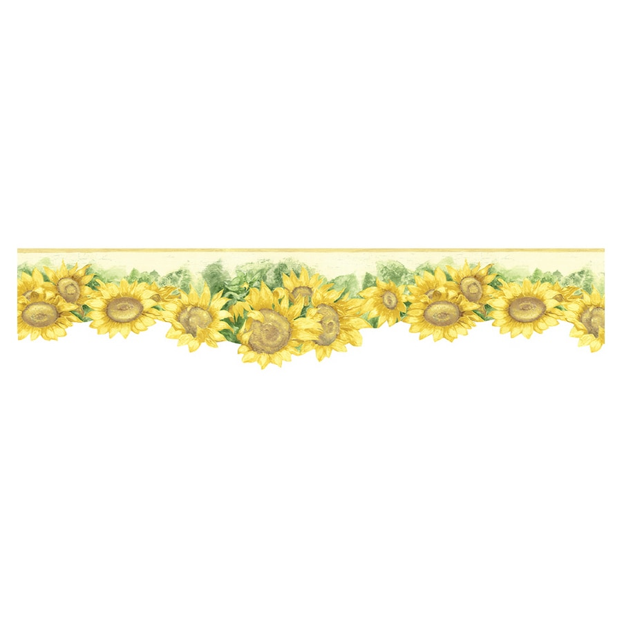 Shop Norwall Sunflower Wallpaper Border At Lowes Com