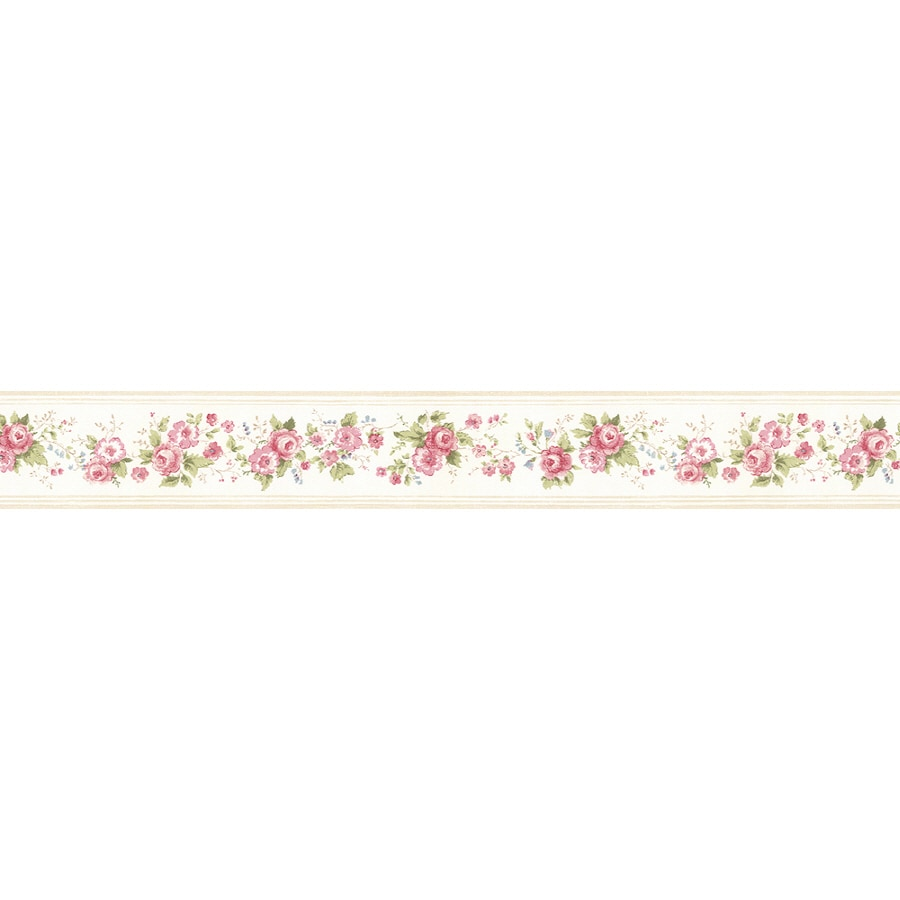 Shop norwall 4 2 in red prepasted wallpaper border at for Prepasted wallpaper