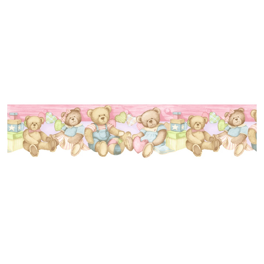 Shop norwall baby bear wallpaper border at for Wallpaper and borders