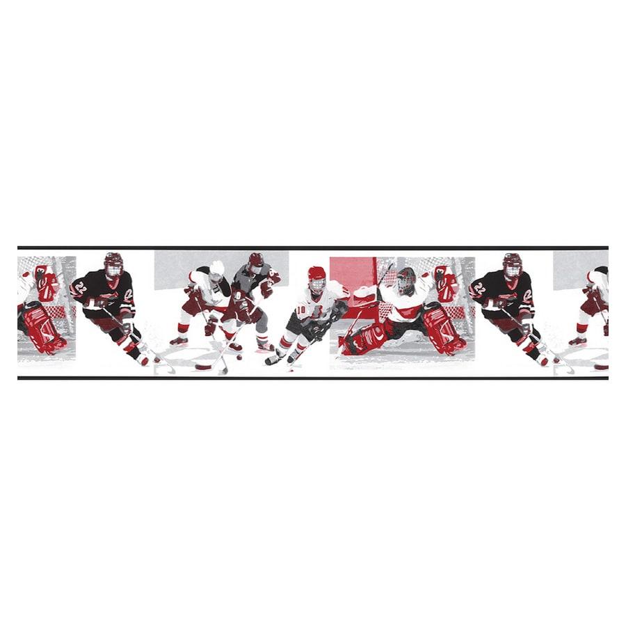 Shop norwall hockey wallpaper border at for Wallpaper lowe s home improvement
