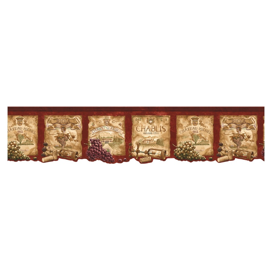 Norwall Kitchen Style Wine Label Wallpaper Border At Lowes Com