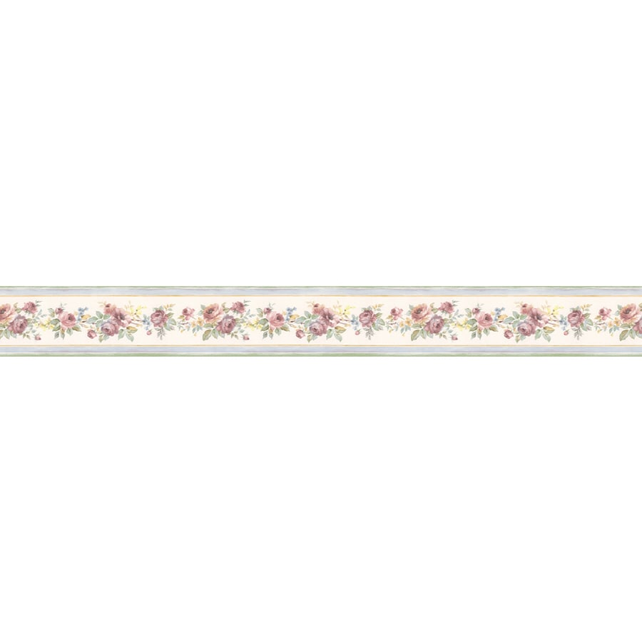 Shop norwall 3 5 in prepasted wallpaper border at for Wallpaper lowe s home improvement