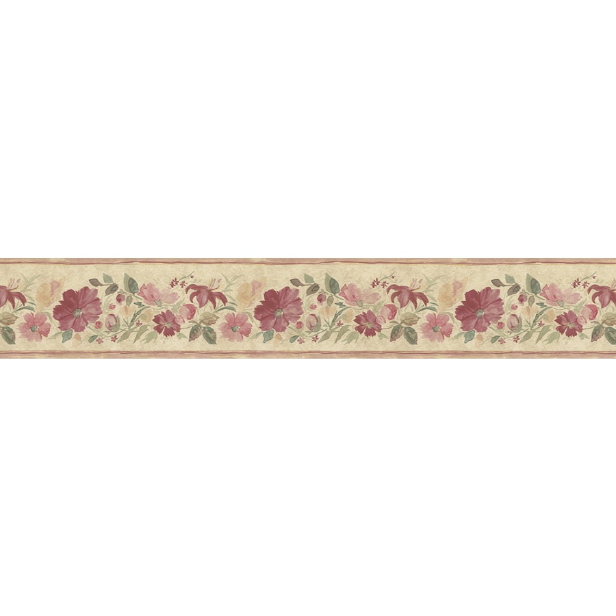 Shop Norwall 5 25 In Red Prepasted Wallpaper Border At