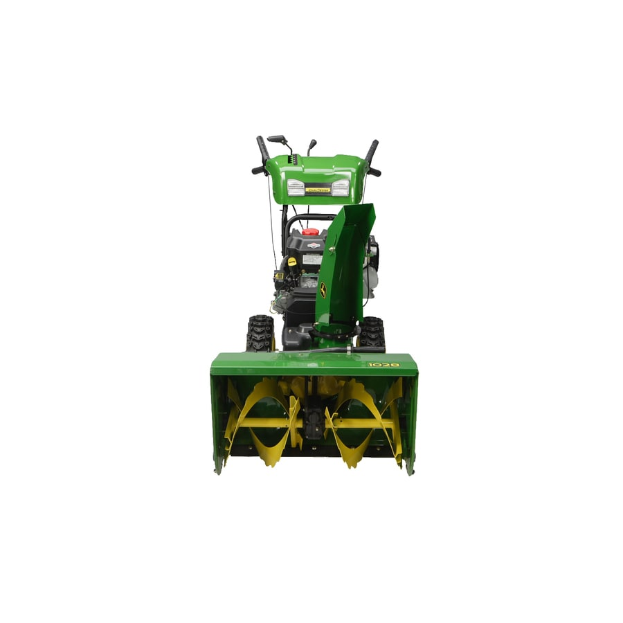 John Deere 305-cc 28-in 2-Stage Electric Start Gas Snow Blower with Heated Handles and Headlight