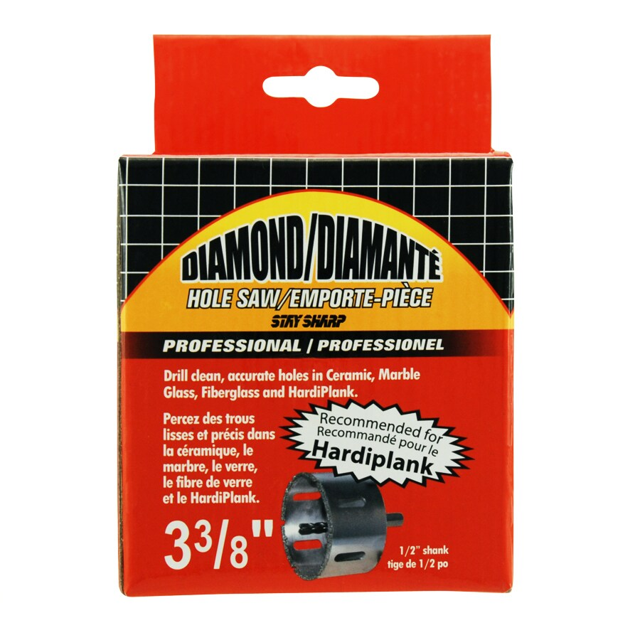 Exchange-A-Blade 3-3/8-in Diamond Non-Arbored Hole Saw