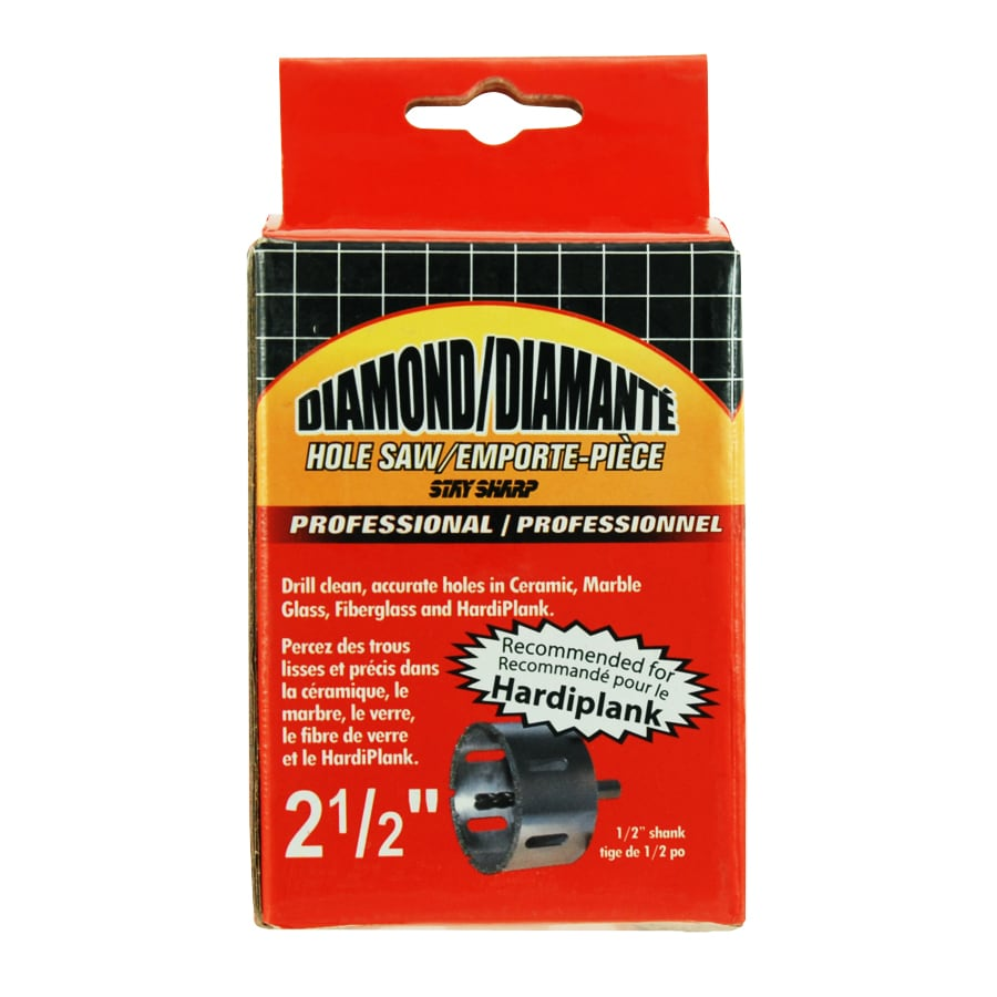 Exchange-A-Blade 2-1/2-in Diamond Non-Arbored Hole Saw