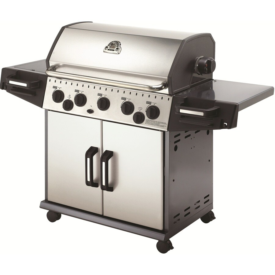 Huntington Rebel 5-Burner (50000 BTU) Liquid Propane Gas Grill with Side and Rotisserie Burner