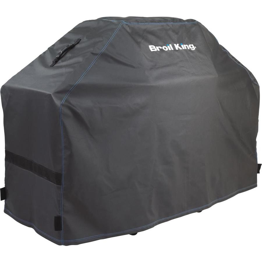 Broil King Premium 51-in x 46-in Black with Blue Accent Stitching PVC Gas Grill Cover