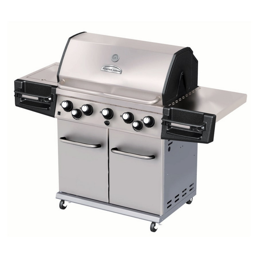 Shop Master Forge 5-Burner Stainless Steel Gas Grill At