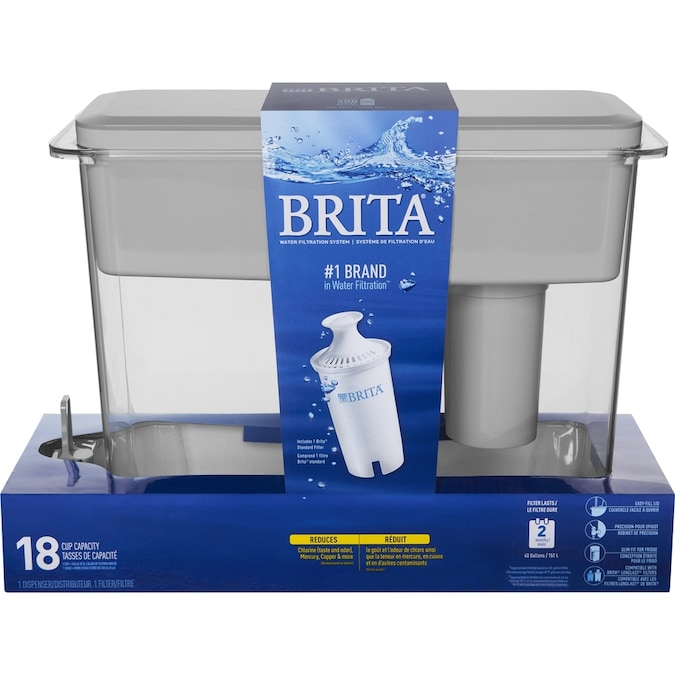 Brita UltraMax 18-Cup Gray Water Filter Pitcher in the Water ...
