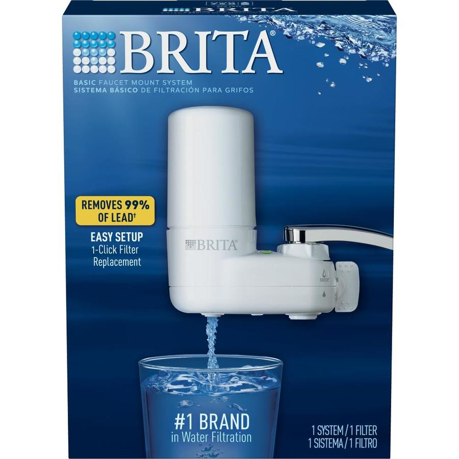 Shop Brita Faucet Mount Carbon Block White Faucet Filter at Lowes.com