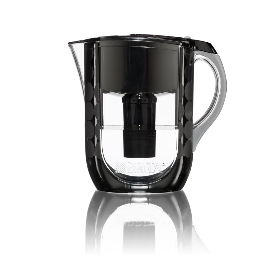 Brita Grand Water Filtration Pitcher Black Bubbles 10 cup