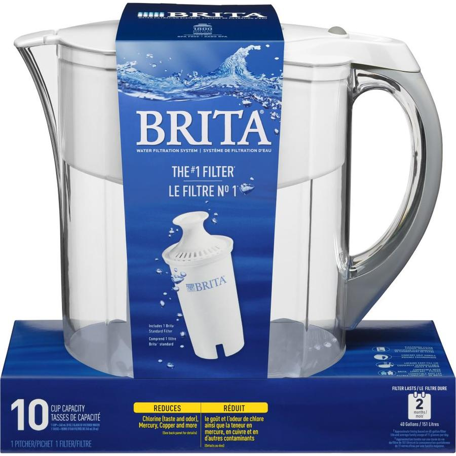 brita 10cup pitcher complete filtration system