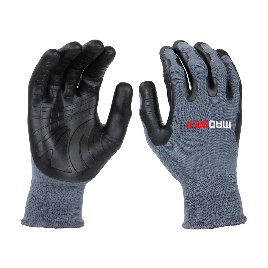Mad Grip Pro Palm Utility Large Unisex Rubber Multipurpose Gloves