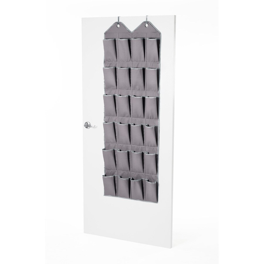 Style Selections 24 Pair Grey Fabric Over The Door Organizer