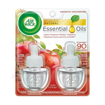 Airwick 2-Pack Apple Cinnamon Electric Air Freshener at