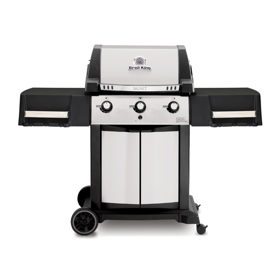 Broil King Signet Black, and Stainless Steel 3-Burner (40,000-BTU) Liquid Propane Gas Grill