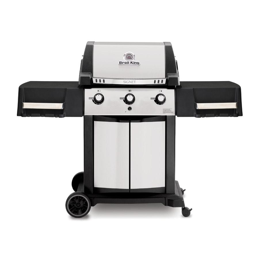 Broil King Signet Black and Stainless Steel 3-Burner (40,000-BTU) Natural Gas Grill