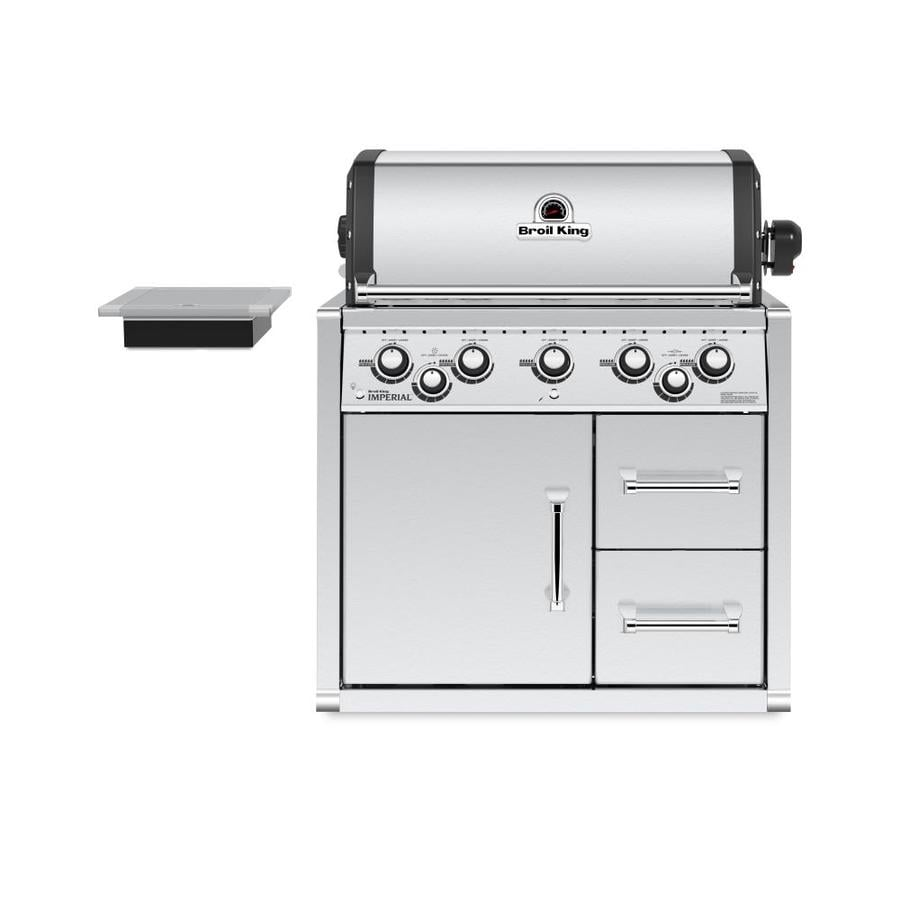 Broil King Imperial 590 5 Burner Stainless Steel Built In Liquid Propane  Gas Grill With Cabinet