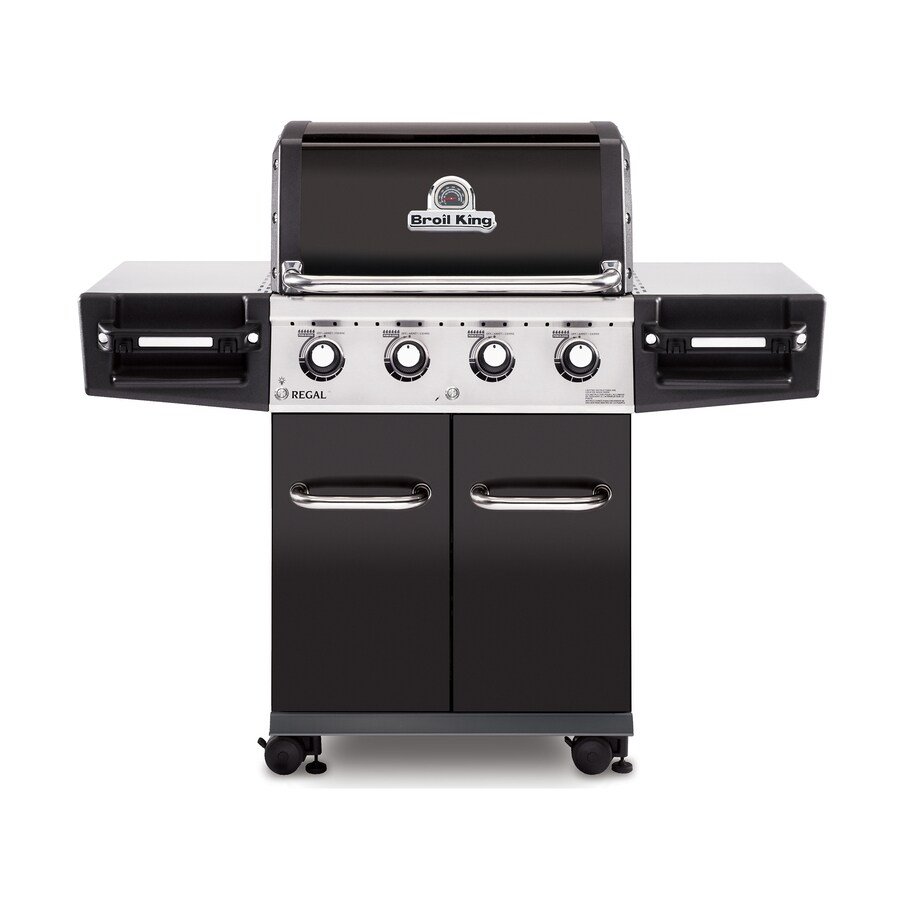 Broil King Regal Black, Stainless Steel, and Black Chrome 4-Burner (50,000-BTU) Natural Gas Grill