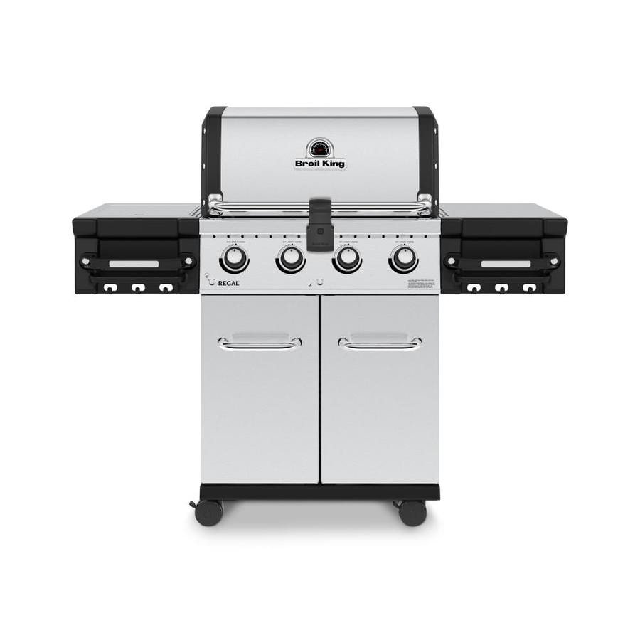 Broil King Regal S420 Pro Stainless Steel 4-Burner (50000-BTU) Liquid Propane Gas Grill with Side Burner