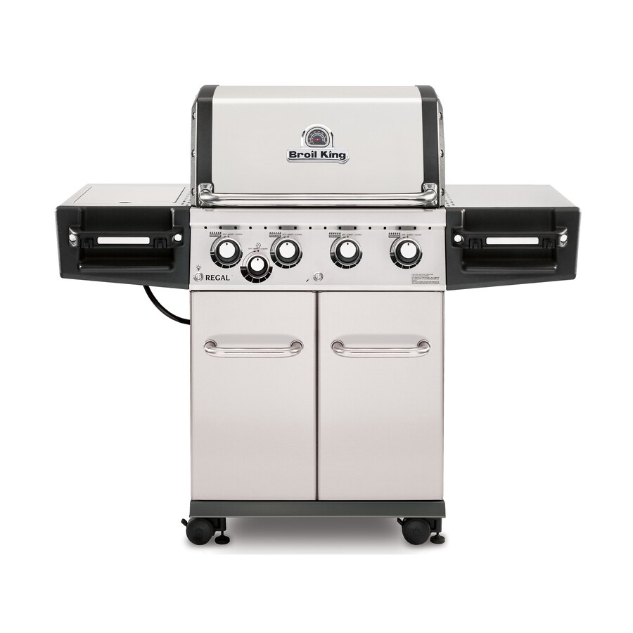 Broil King Regal S440 Pro Stainless Steel 4-Burner (50000-BTU) Natural Gas Gas Grill with Side Burner