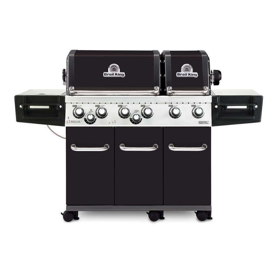 shop broil king regal xl pro black 6 burner liquid propane gas grill with 1 side rotisserie. Black Bedroom Furniture Sets. Home Design Ideas