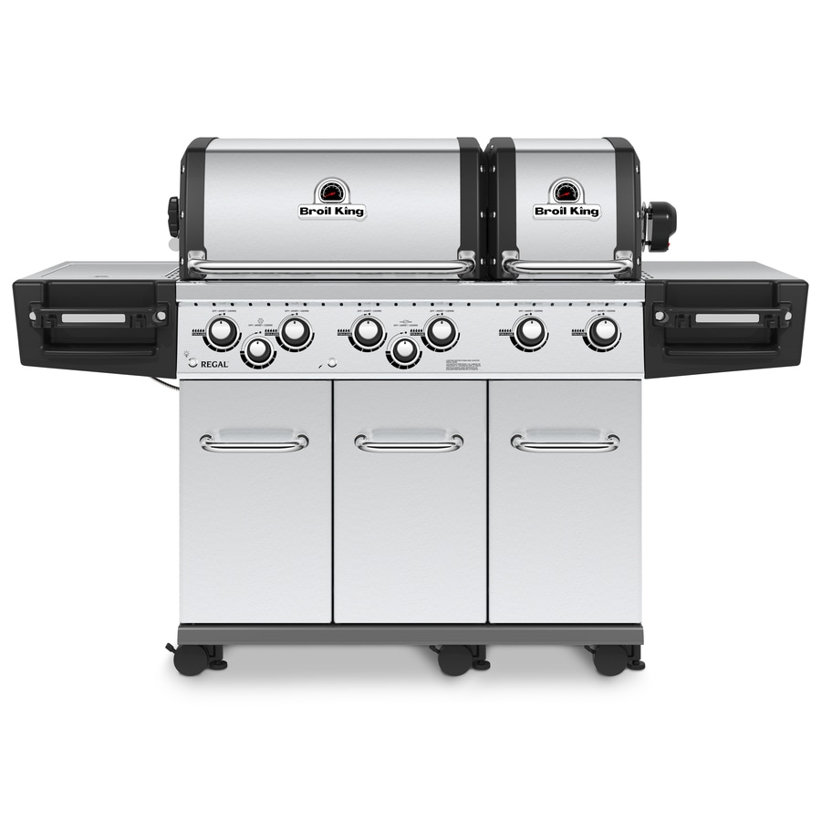 Broil King Regal XLS Pro Stainless Steel 6-Burner Natural Gas Grill with 1 Side Rotisserie Burner