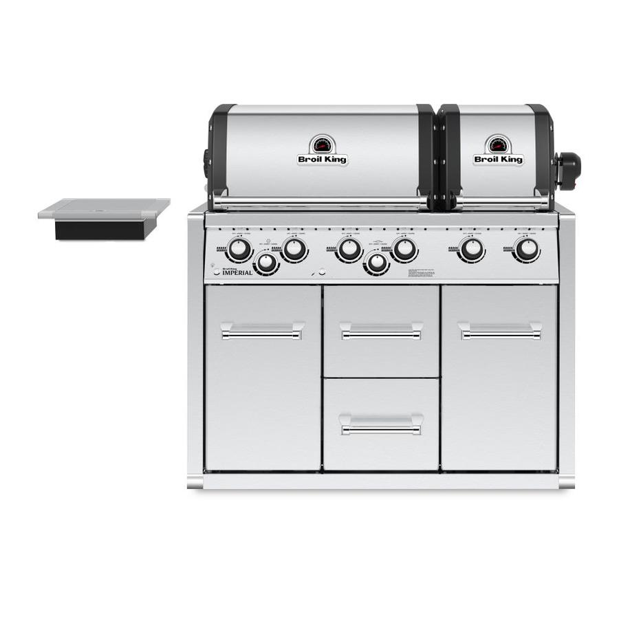 Broil King Imperial Xls 6 Burner Stainless Steel Built In Liquid Propane Gas Grill With Cabinet In The Built In Gas Grills Department At Lowes Com