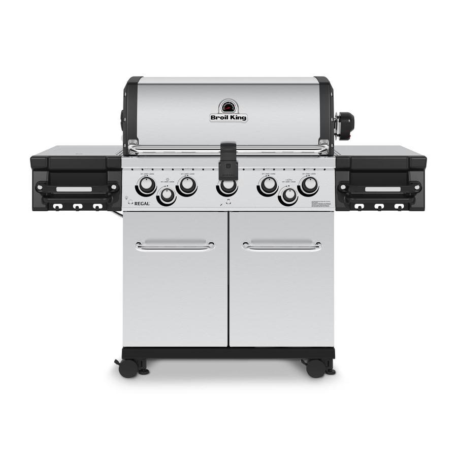 Broil King Regal S590 Pro Stainless Steel 5-Burner Liquid Propane Gas Grill with 1 Side Rotisserie Burner