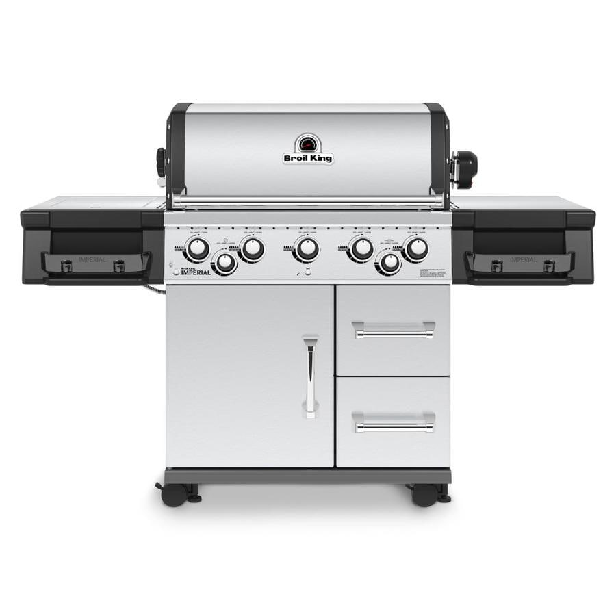 Broil King Imperial 590 Stainless Steel 5-Burner Liquid Propane Gas Grill with 1 Side Rotisserie Burner