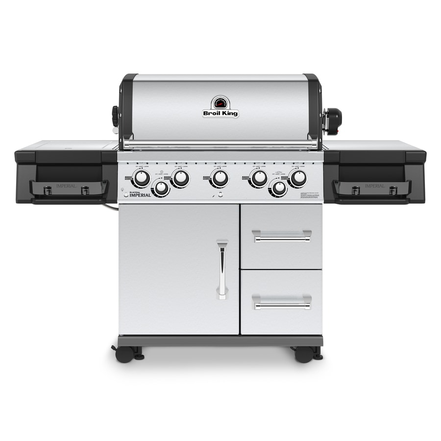 Broil King Imperial 590 Stainless Steel 5-Burner Natural Gas Grill with 1 Side Rotisserie Burner