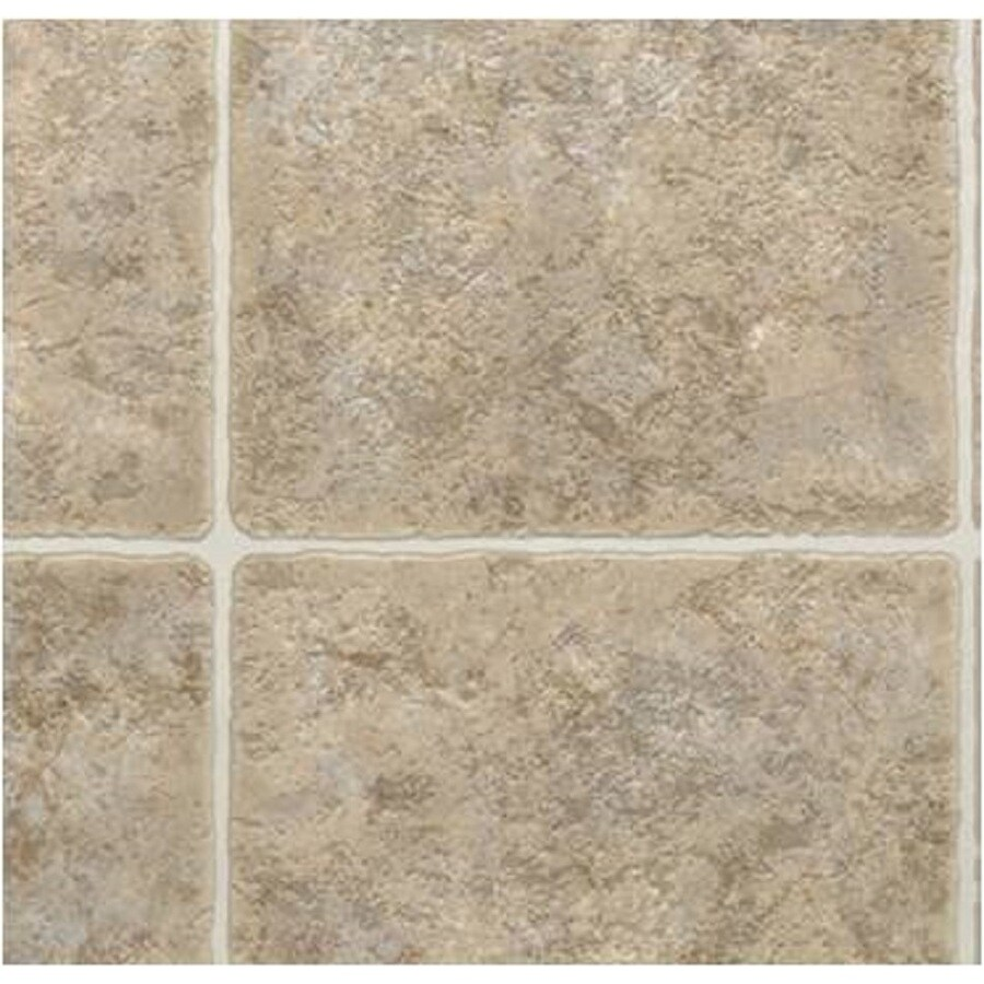 Shop Domco Ft W Santa Fe Brown Tile LowGloss Finish PreCut Vinyl - Domco vinyl flooring