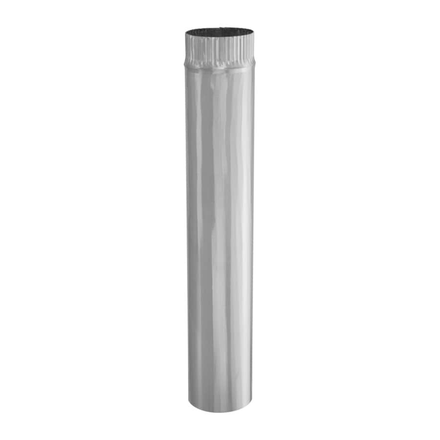 IMPERIAL 4-in x 24-in Galvanized Steel Round Duct Pipe
