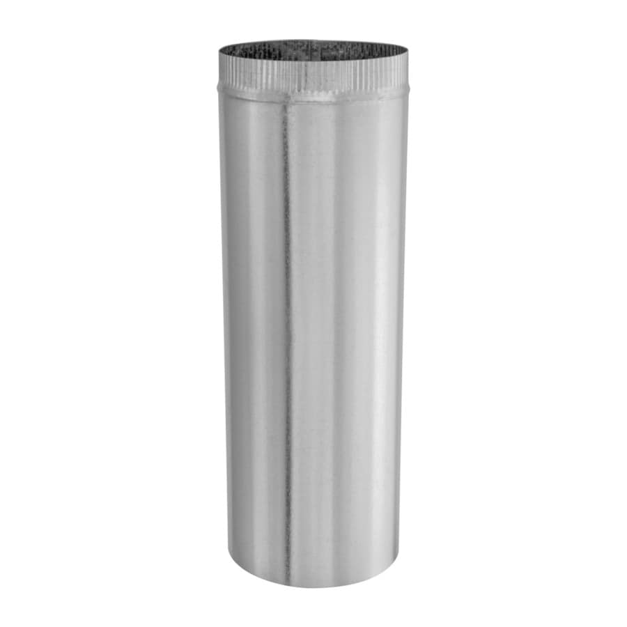 IMPERIAL 8-in x 24-in Galvanized Steel Round Duct Pipe